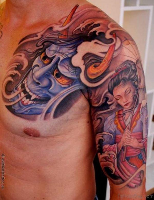 Devil And Geisha Tattoo