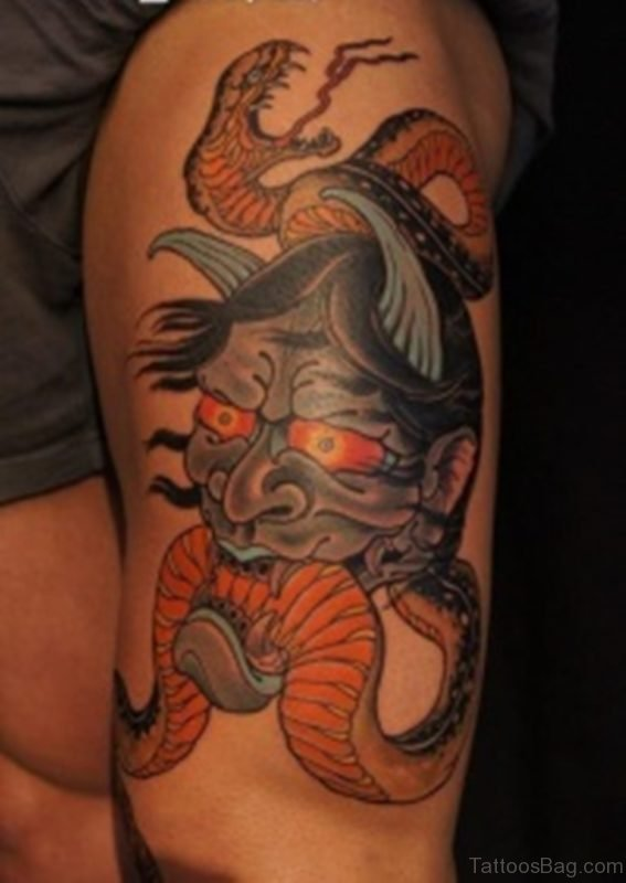 Devil And Snake Tattoo