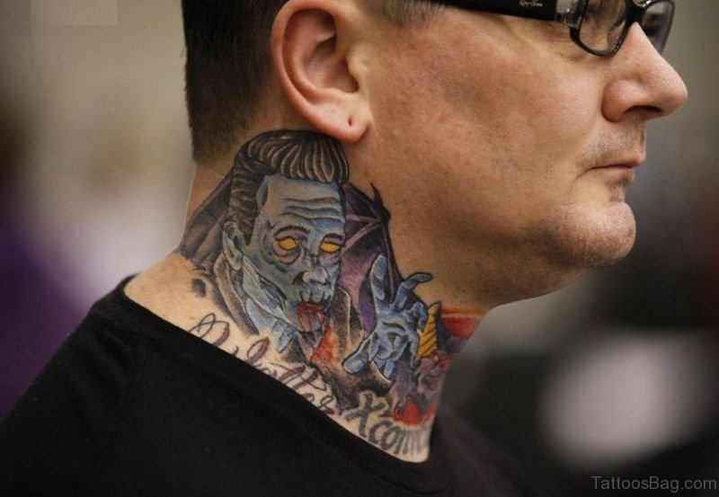 49 colorful evil neck tattoos