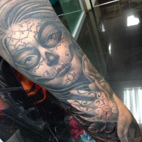 Devil Girl Face Tattoo