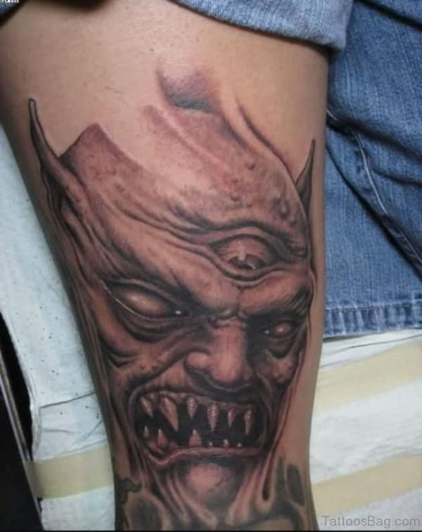 51 horror zombie tattoos for leg. Black Bedroom Furniture Sets. Home Design Ideas