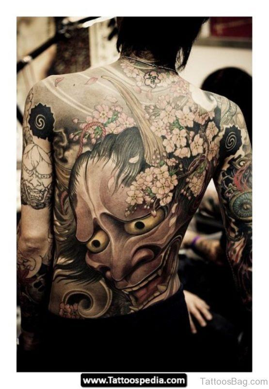 Devil Tattoo Design On Back BT1048