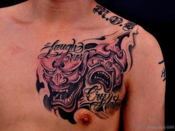 Devil Tattoo On Chest