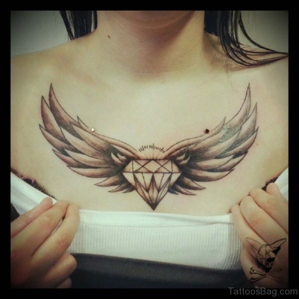 Diamond And Wings  Tattoo