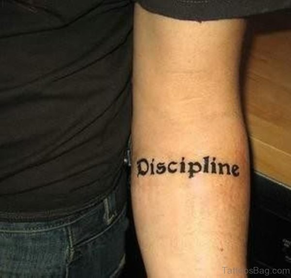 Disclipline Word Tattoo