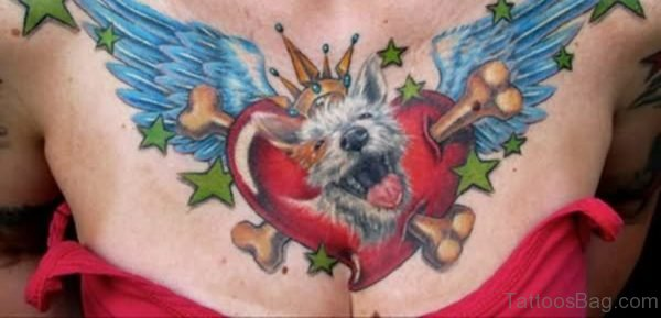 Dog And Heart Tattoo