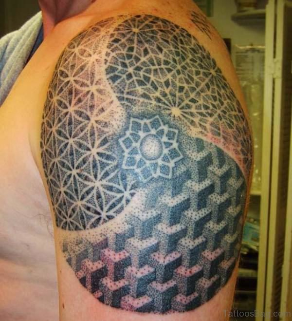 Dotwork Geometric Tattoo Design