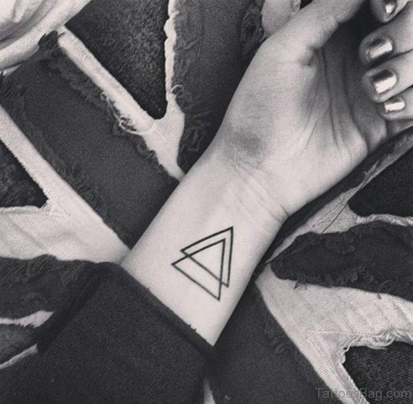 Double Triangle Tattoo On Wrist