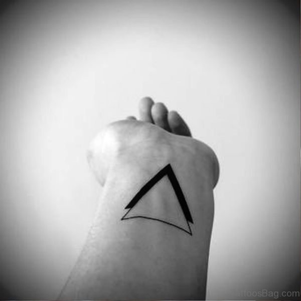 Double Wrist Triangle Tattoo