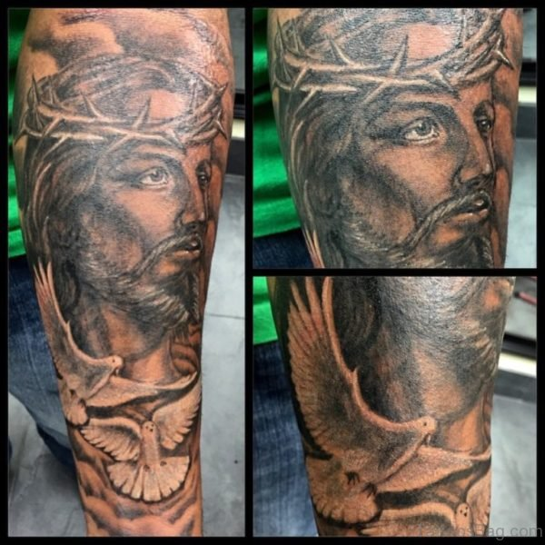 Dove And Jesus Tattoo
