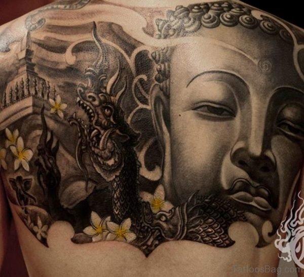Dragon And Buddha Tattoo Design