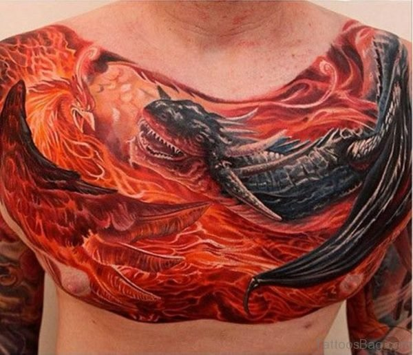Dragon And Phoenix Tattoo
