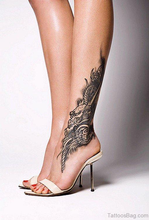 Dragon Ankle Tattoo