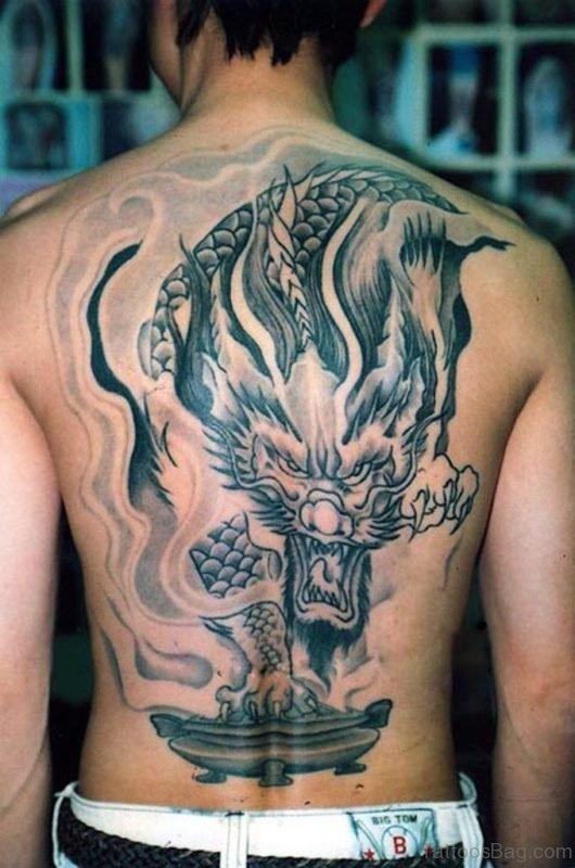 Dragon Face Tattoo BT1051