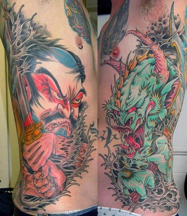 Dragon Rib Tattoo Image