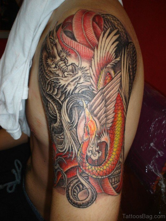 Dragon Tattoo Design On Bicep