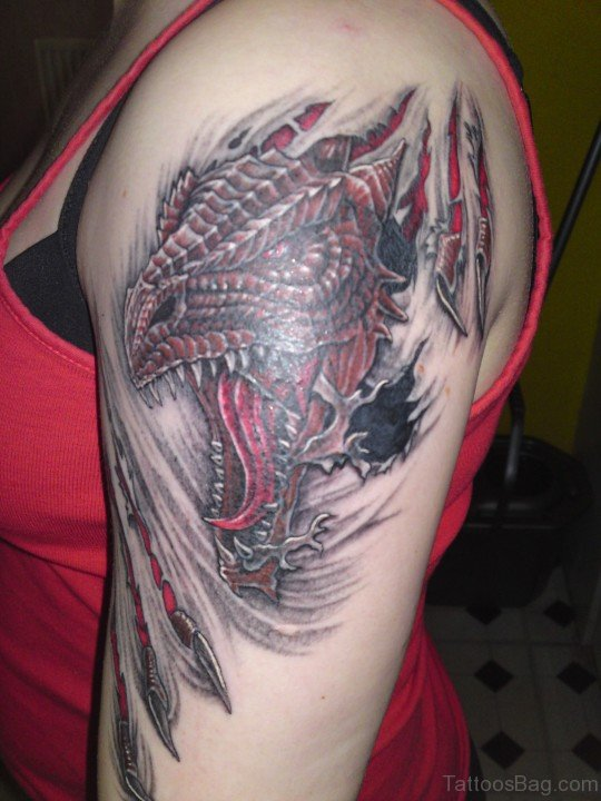 Dragon Tattoo On Bicep