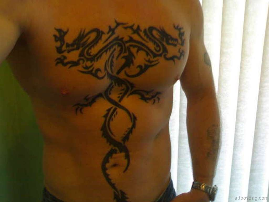 chinese dragon tattoo chest - photo #31