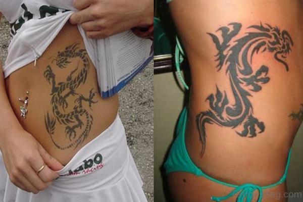 Dragon Tattoo On Ribs