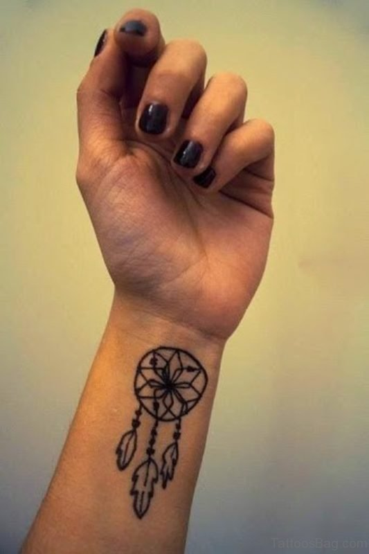 Dreamcatcher Tattoo Design On wrist
