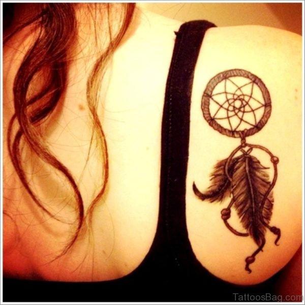 Dreamcatcher Tattoo For Back