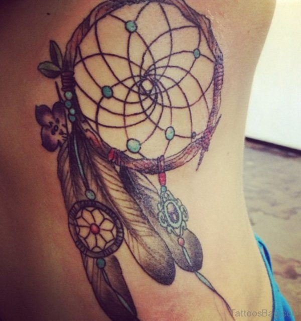 Dreamcatcher Tattoo For Rib