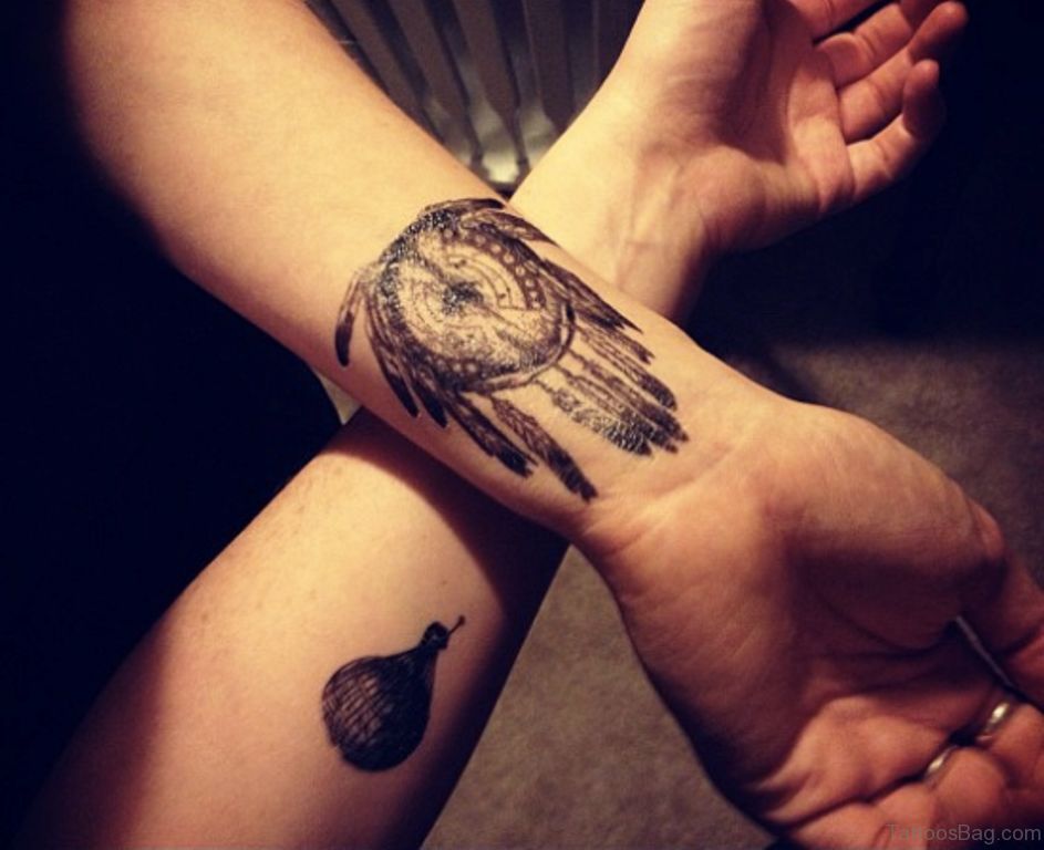 50 Wonderful Dreamcatcher Tattoos On Wrist