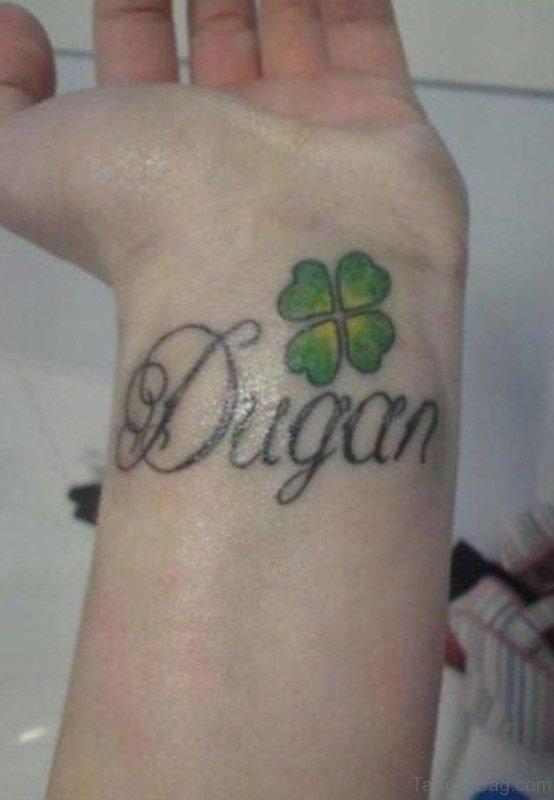 Dugan Leaf Tattoo On Wrist