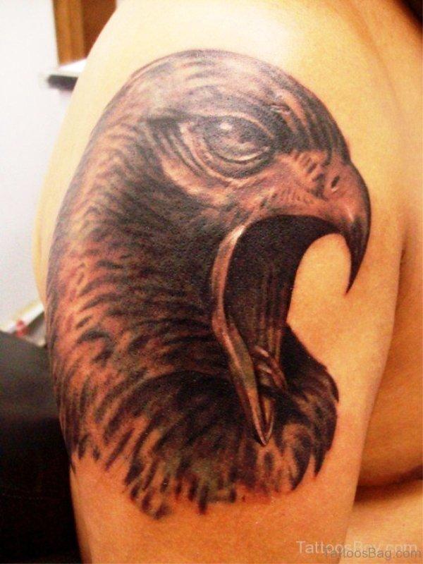 Eagle Face Tattoo Design