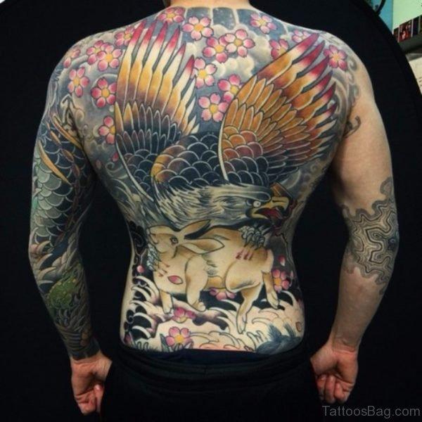 Eagle Full Back tattoo