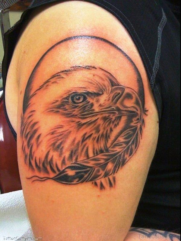 Eagle Head Shoulder Tattoo