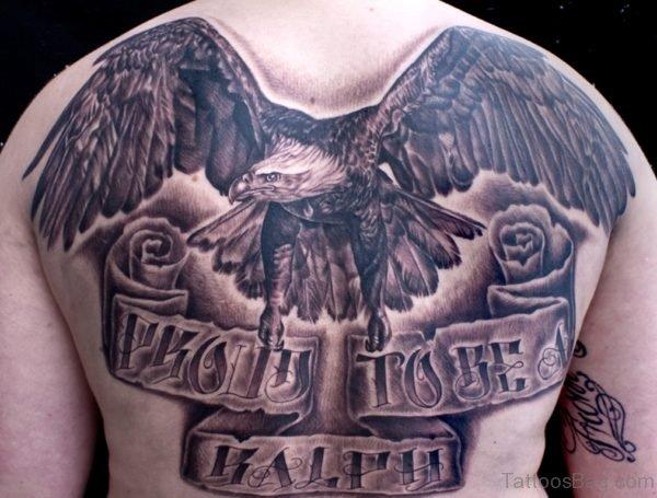 Eagle Tattoo Design On Back