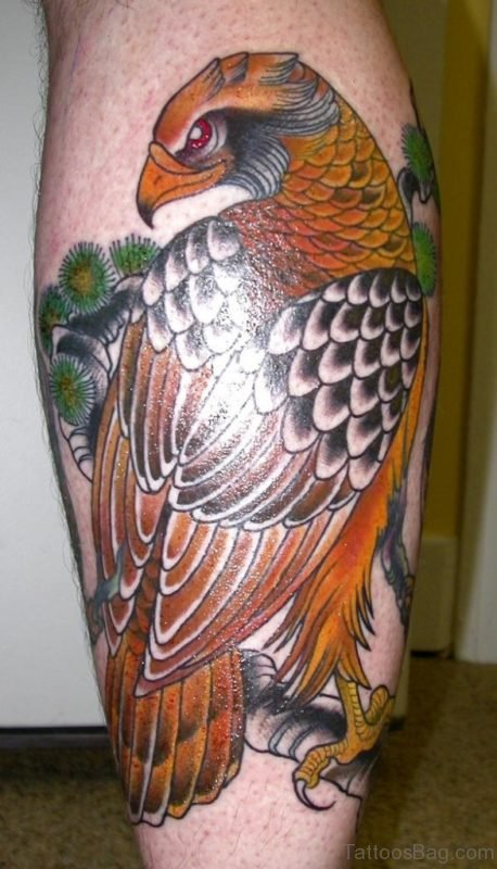 Eagle Tattoo Design On Leg