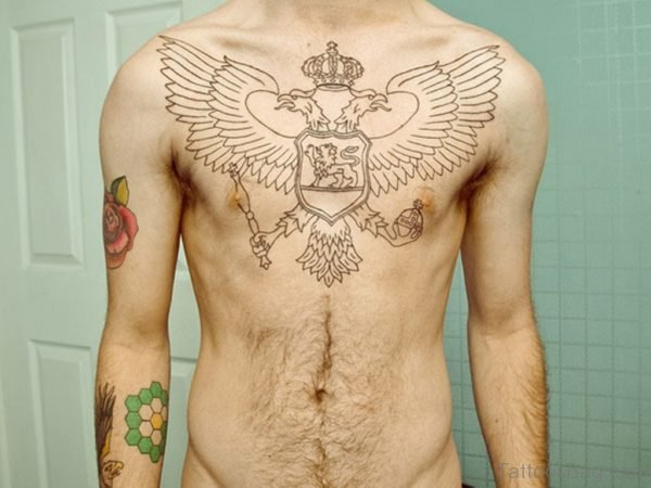 Eagle Wings Tattoo On Chest ]