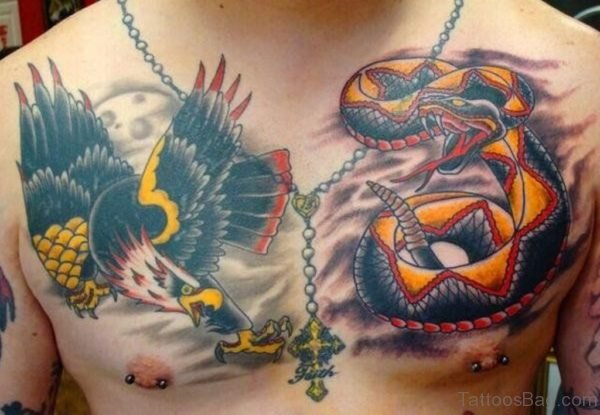 Eagle Wirh Snake Tattoo