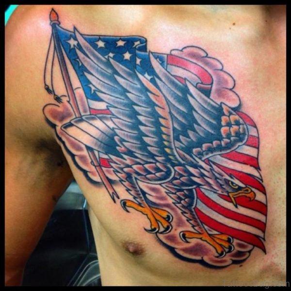 Eagle With Flag Tattoo