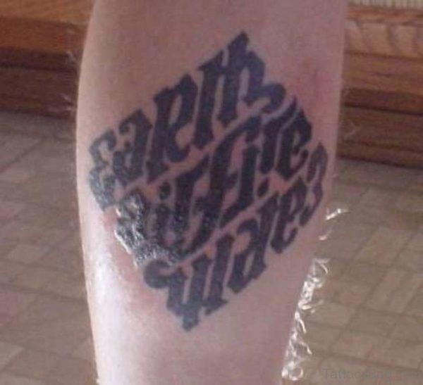Earth Air Fire Water Ambigram Tattoo