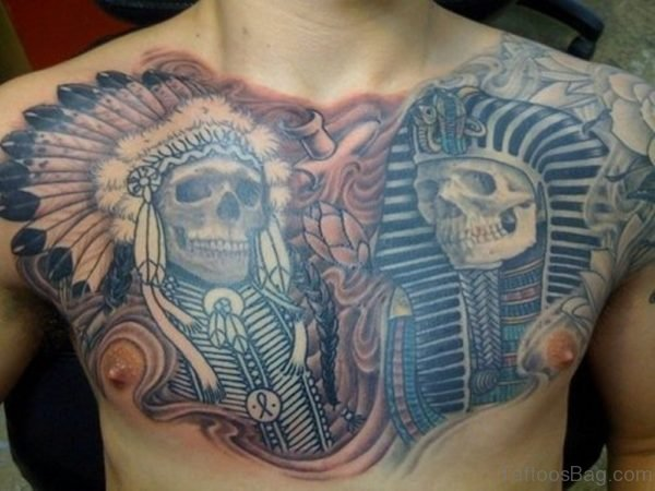 Egyptian Skull Tattoo