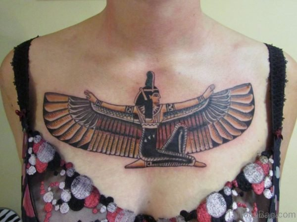 Egyptian Tattoo On Chest