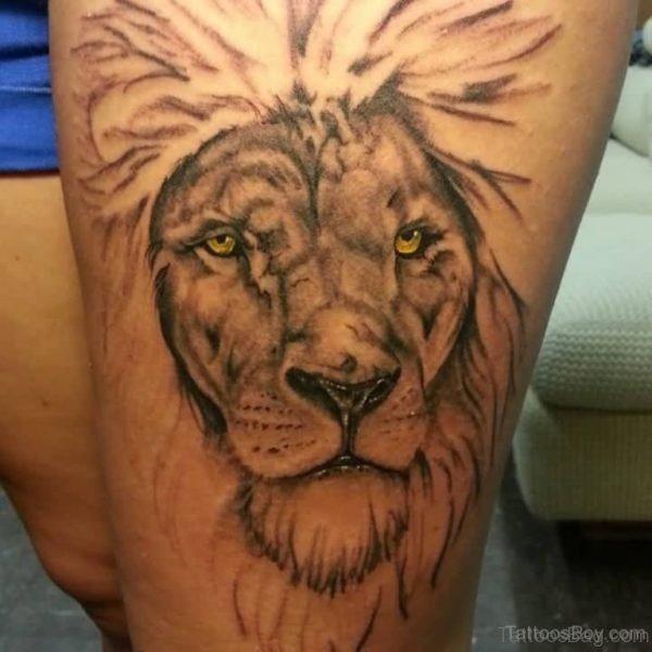 Eleagnt Lion Tattoo