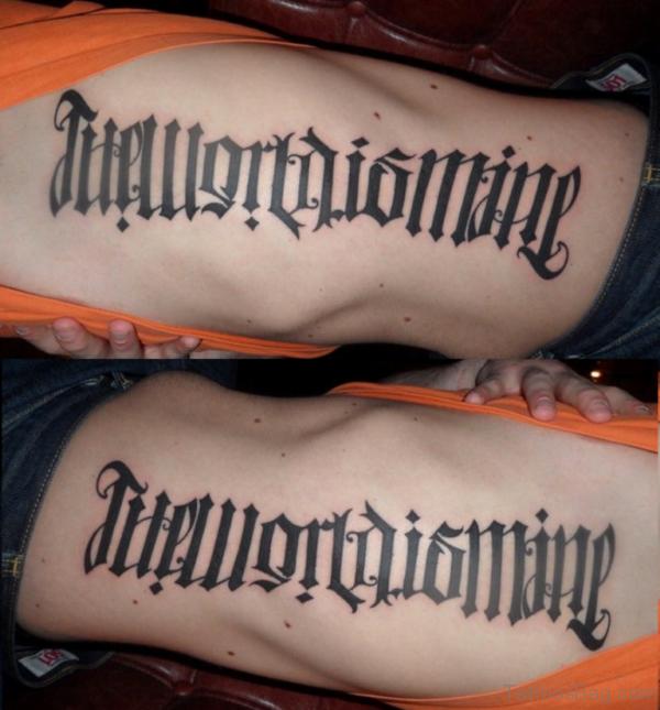 Elegant Ambigram Tattoo Design