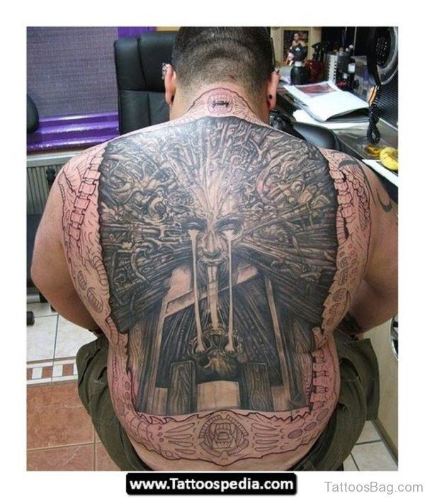 Elegant Back Tattoo BT1057