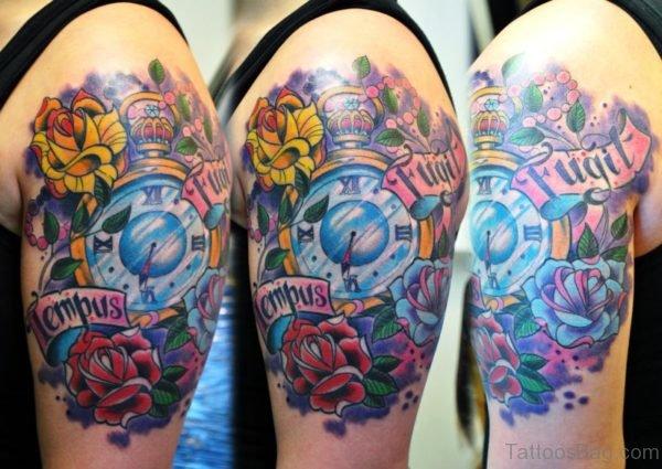 Elegant Clock Tattoo Design