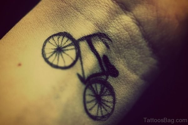 Elegant Cycle Tattoo On Wrist