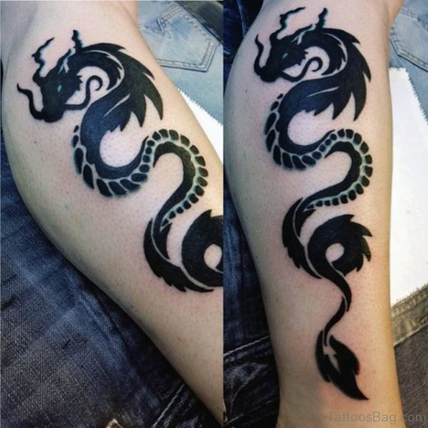 Elegant Dragon Tattoo On Arm