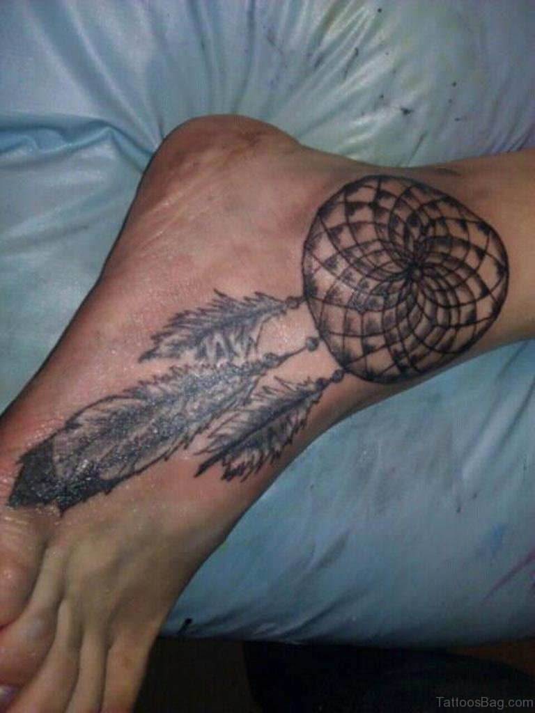 41 cute dreamcatcher tattoos on ankle