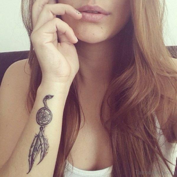 Elegant Dreamcatcher Tattoo On Wrist