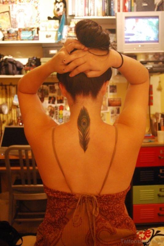 Elegant Feather Tattoo