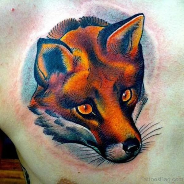 Elegant Fox Tattoo