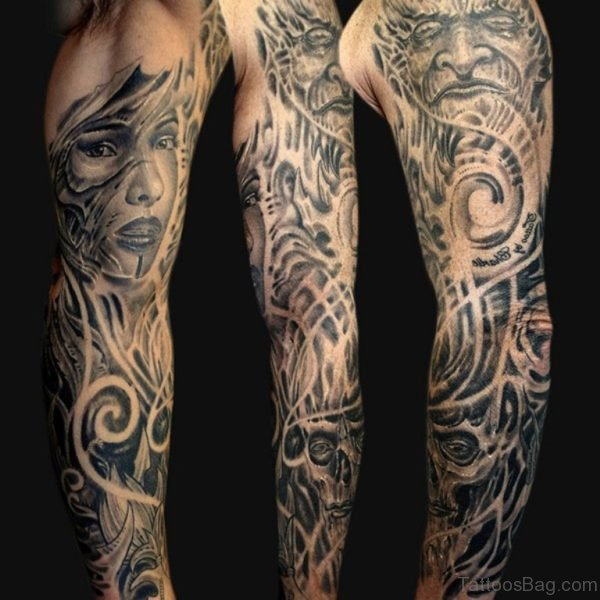 Elegant Full Sleeve Tattoo For Men